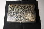Портсигар серебро 84 чернение позолота photo 10