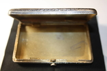 Портсигар серебро 84 чернение позолота photo 11
