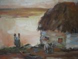 Старая картина Напоили отца, фото №4