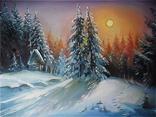 """"""" Лунная ночка. Зима"""" масло холст подрамник"""