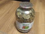 Банка денег, мелочи, гривен, монет., фото №3