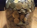 Банка денег, мелочи, гривен, монет., фото №6