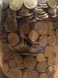 Банка денег, мелочи, гривен, монет., фото №7
