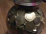 Банка денег, мелочи, гривен, монет., фото №8