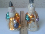 Елочные игрушки Дед Мороз и Снегурочка СССР