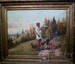 1900-е Картина ''Охотники''
