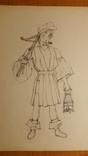 10 театральних ескізів Орлова Г.М. олівцем photo 6