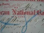 США чек 1866 год на 104,45$ + марка photo 5