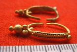 Парні золоті не описані сережки 900 проба photo 1