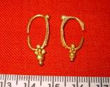 Парні золоті не описані сережки 900 проба photo 3