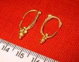 Парні золоті не описані сережки 900 проба photo 4