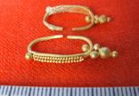 Парні золоті не описані сережки 900 проба photo 10