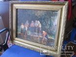 """Эскиз к картине """"Шутка"""" худ.Петухов В.А.1956 г. photo 5"""