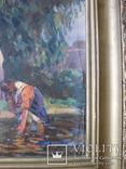 """Эскиз к картине """"Шутка"""" худ.Петухов В.А.1956 г. photo 18"""