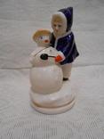 Девочка и снеговик. Старый Киев. photo 1