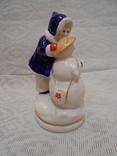 Девочка и снеговик. Старый Киев. photo 4