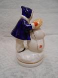 Девочка и снеговик. Старый Киев. photo 5
