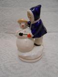 Девочка и снеговик. Старый Киев. photo 9