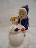 Девочка и снеговик. Старый Киев. photo 13