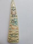 Бивень моржа с вырезанным рисунком photo 2
