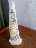 Бивень моржа с вырезанным рисунком photo 3