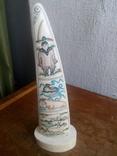 Бивень моржа с вырезанным рисунком photo 4