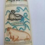 Бивень моржа с вырезанным рисунком photo 6