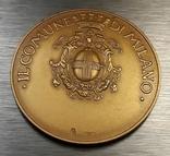Золотая медаль муниципалитета Милана с документами photo 3