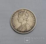 1 Рупия 1889 Британская Индия photo 3
