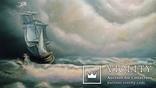 Картина. Морской пейзаж. Парусник. 50х60. 2016г. Колесник Т. photo 1
