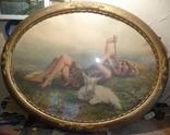 Пастушок с козлёнком .( рама). photo 1