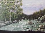 Картина Горная - река художника А.Довгана 1996 год.