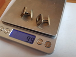 Запонки Советские Серебро 875 проба. Камень., фото №8