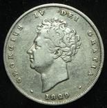 Великобритания шиллинг 1829 серебро