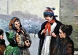 "Картина жанровая "" Дети зимой "" , размер 80 - -100 см photo 4"