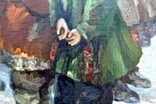 "Картина жанровая "" Дети зимой "" , размер 80 - -100 см photo 7"