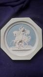 Настенное  старинное панно из бисквита Ф.Толстого, фото №2