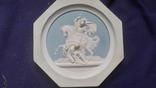 Настенное  старинное панно из бисквита Ф.Толстого, фото №6