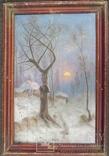 "1950-е Картина под Ю.Клевера ""Зима"""