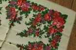 Шерстяной старинный платок №139, фото №4