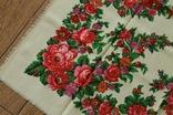 Шерстяной старинный платок №139, фото №5