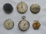 Карманные часы Молния на запчасти + Заря Au