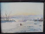 Кравченко М. 1957 год, картон, масло.