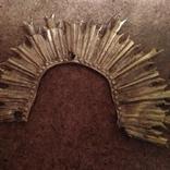 Часть серебряного оклада с позолотой