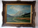 Ст. пейзаж подпись художника Вт. половина XIX века.Австро-Венгрия photo 1