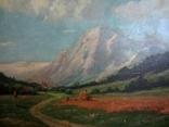 Ст. пейзаж подпись художника Вт. половина XIX века.Австро-Венгрия photo 3