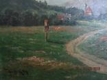 Ст. пейзаж подпись художника Вт. половина XIX века.Австро-Венгрия photo 4