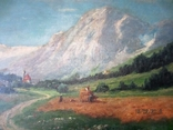 Ст. пейзаж подпись художника Вт. половина XIX века.Австро-Венгрия photo 11