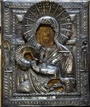 Икона Божией Матери Утоли мои печали в серебряном окладе (41*33,5*3 см.) photo 1