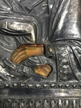 Икона Божией Матери Утоли мои печали в серебряном окладе (41*33,5*3 см.) photo 6